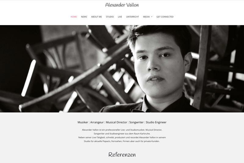 Alex Vallon Webdesign Wiessner