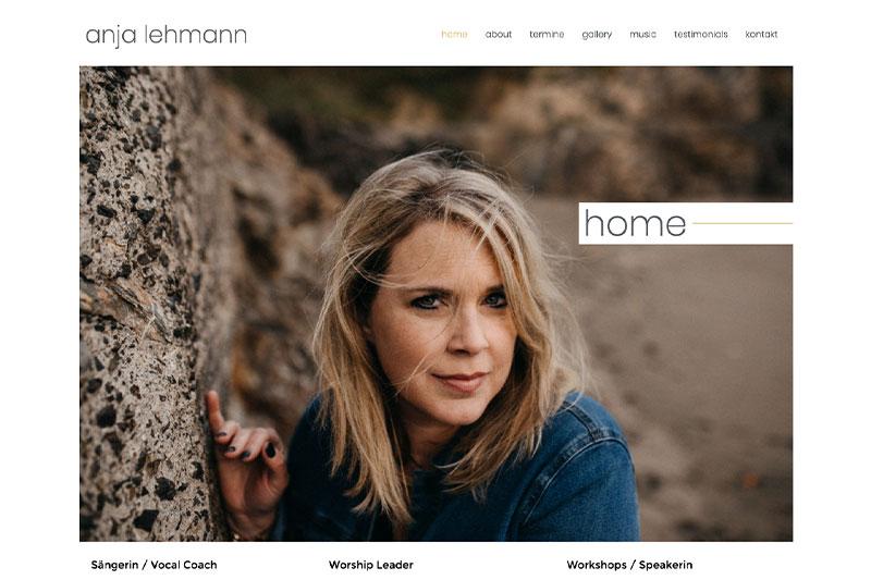 Anja Lehmann Webdesign Wiessner