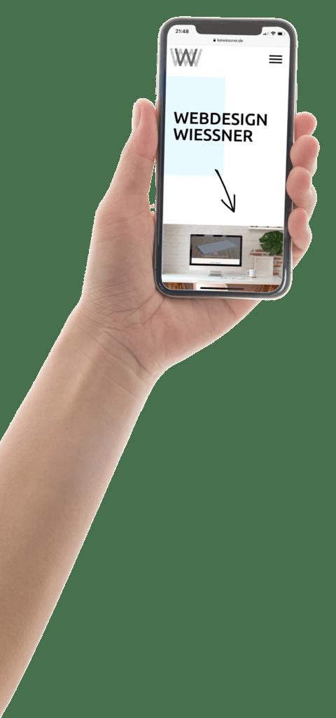 Webdesign Responsive Handy Homepage Wiessner
