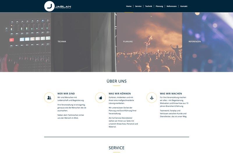 Jablan Medientechnik Webdesign Wiessner