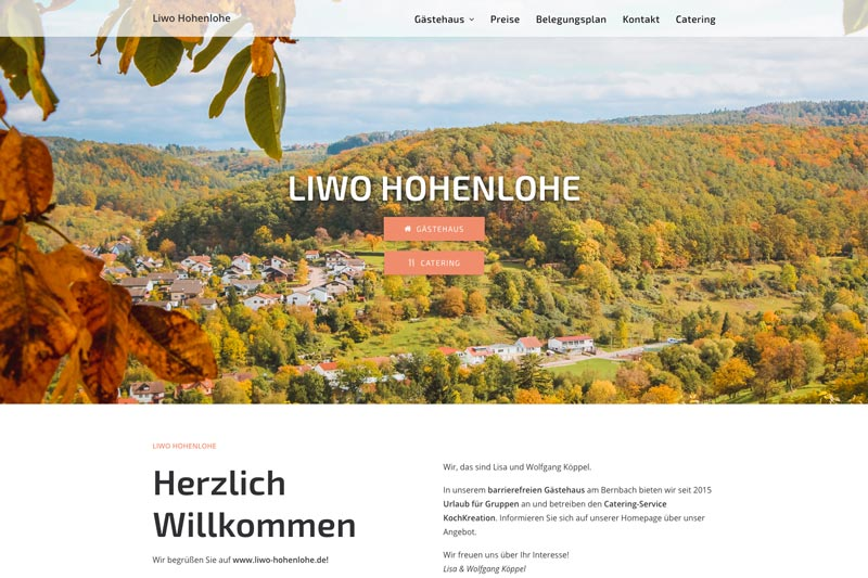 Liwo Hohenlohe Webdesign Wiessner